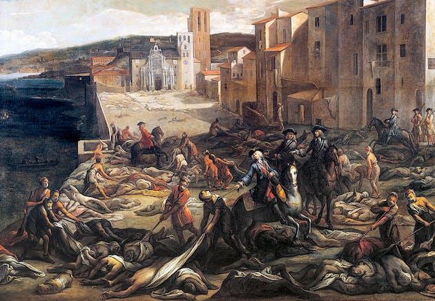 Brote de peste en Marsella 1721.