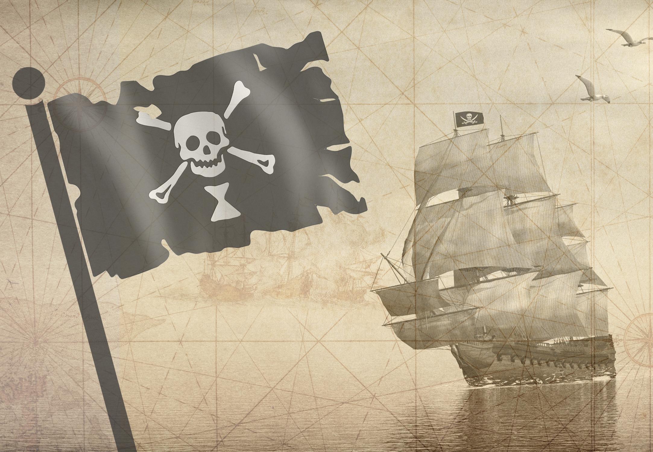 Fyra seglare dodade av pirater