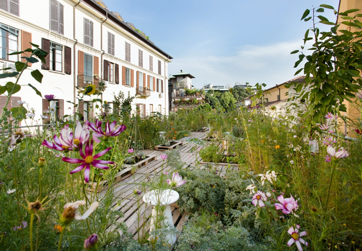 Cool i milano find en rooftop garden for Roof garden milano