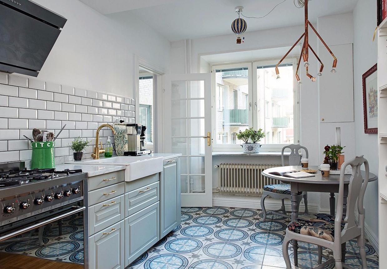 G r dit k kken l kkert med en flise makeover for Azulejos hidraulicos cocina