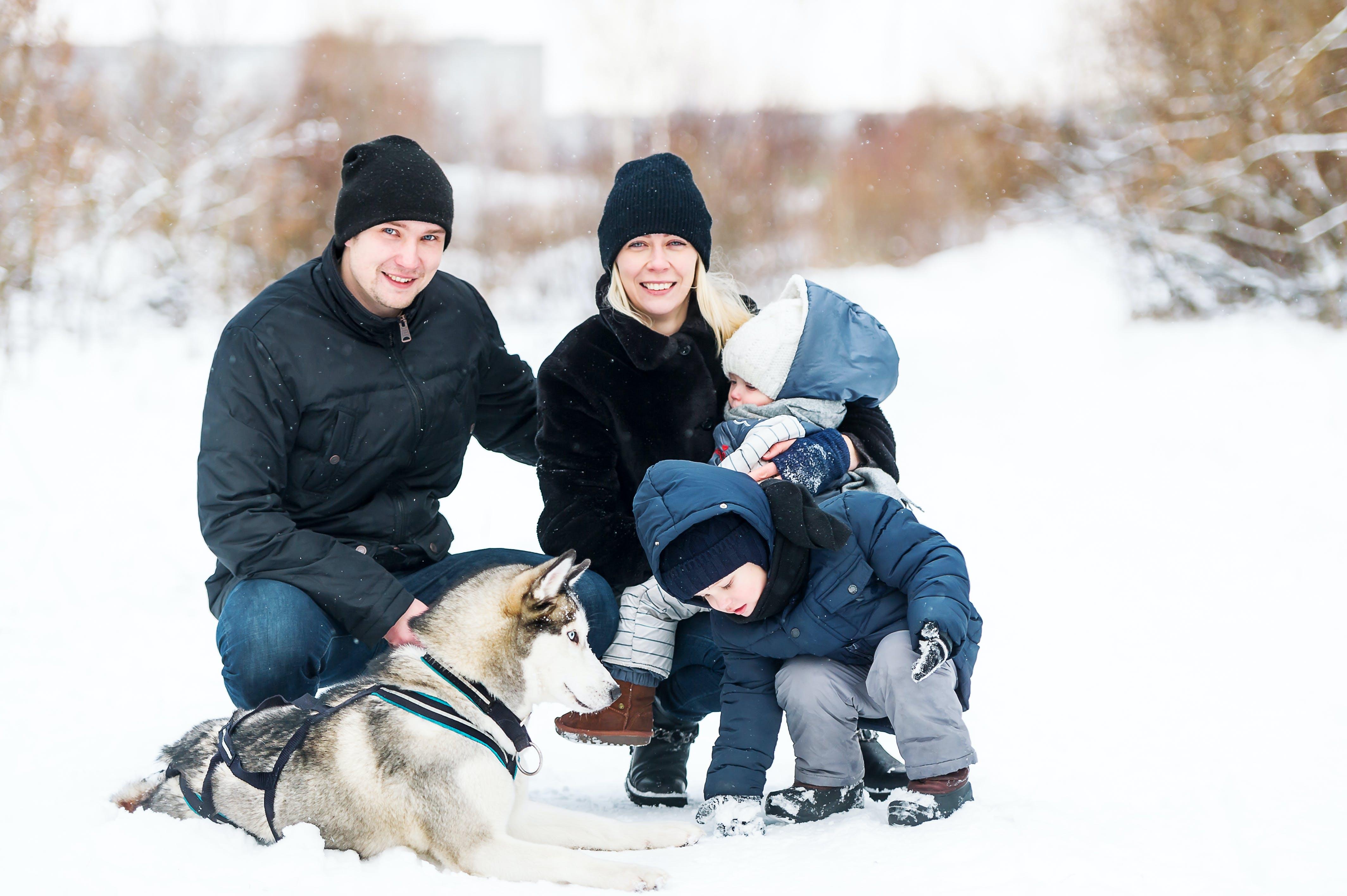 Sådan tager du familiebilleder om vinteren | Digitalfoto.dk