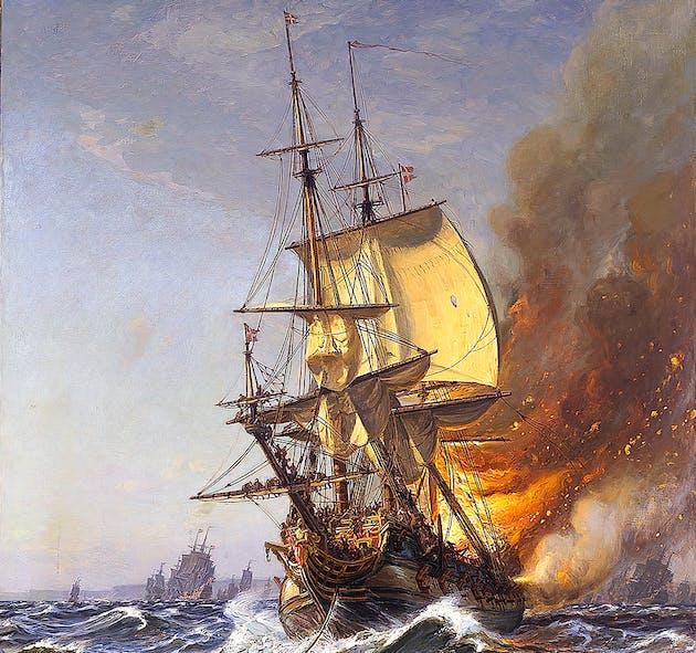Batalla naval en la bahía de Köge 1710