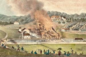 Slavuppror jamaica 1832 plantagebrand sc95gvny4vlh vbletakqq