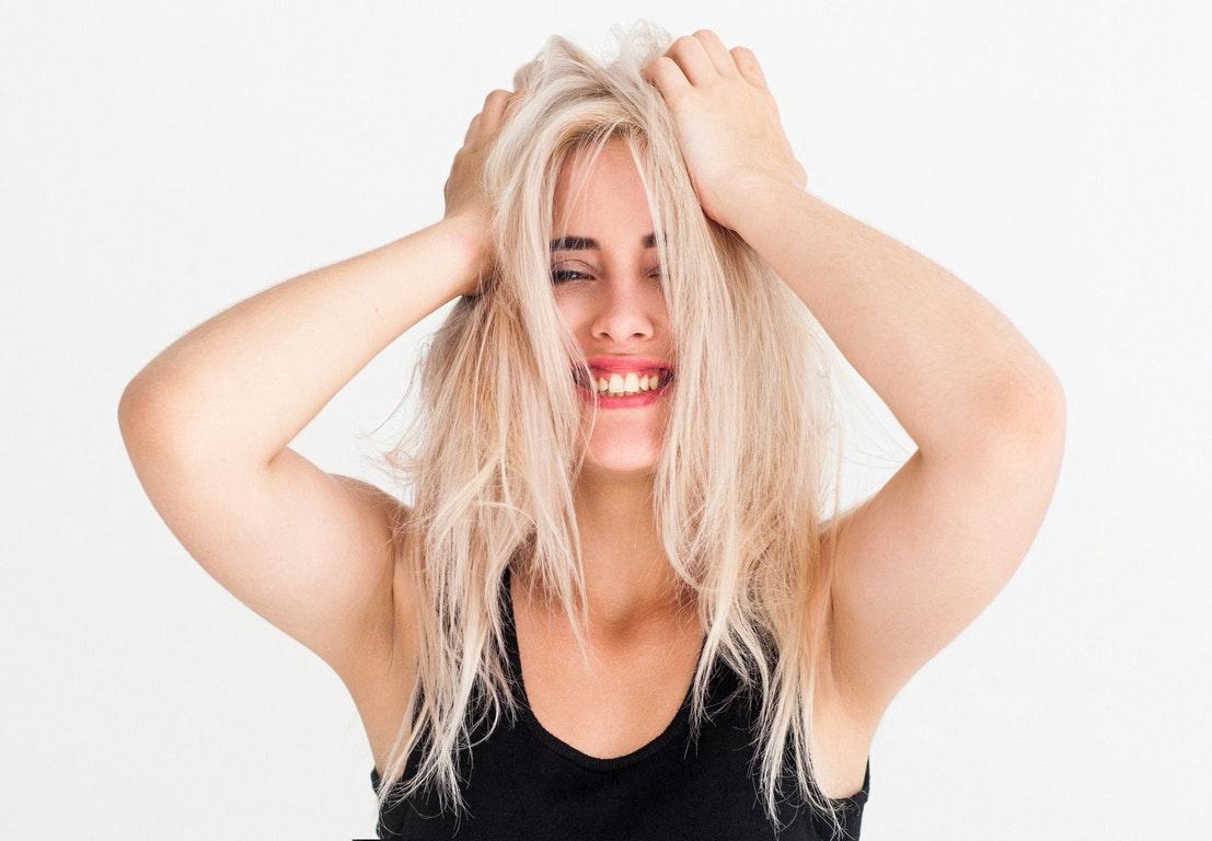 undgå knækket hår