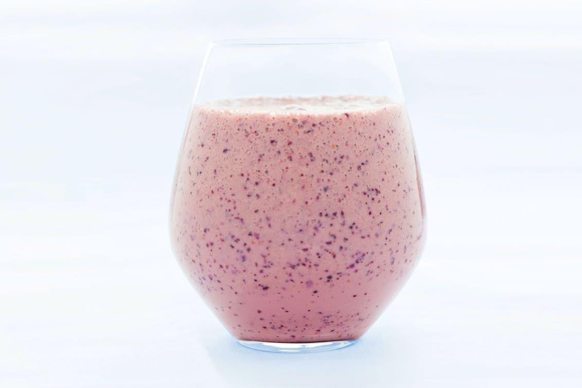 smoothie blåbär ingefära