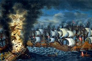 Svenska krig danmark flotta oland regalskeppet kronan 1676 e8 23ejat5amsk5 hk9waw