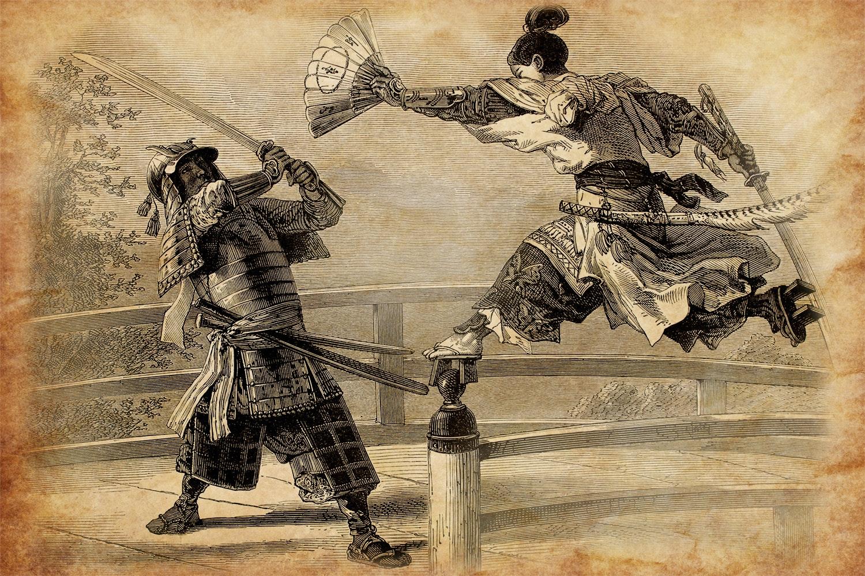 Magiska dueller med kort som vapen