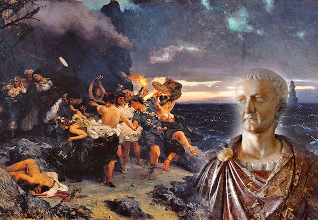 Wat is een Romeinse orgie rode grote lul