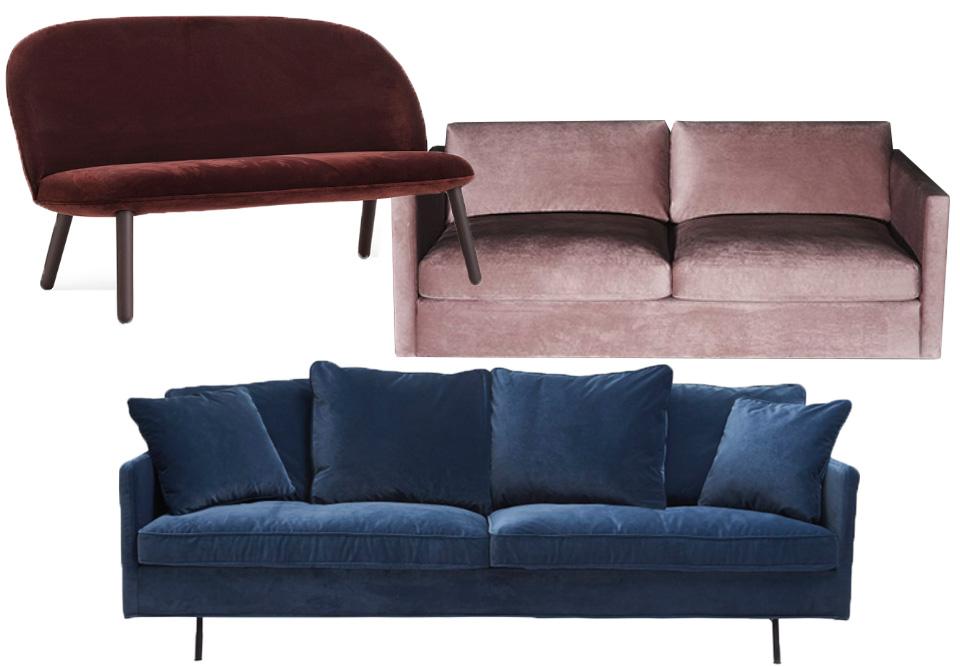 Veloursofaer: Shop en sofa i velour | Costume.dk