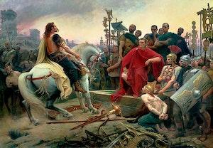 Vercingetorix kapitulerar till julius caesar gallerkrigen alesia uwqm eez2rvpl8e3kymh w