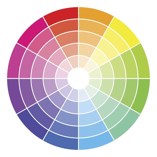 b3271920ac31 Farvecirkel med kontrast farver