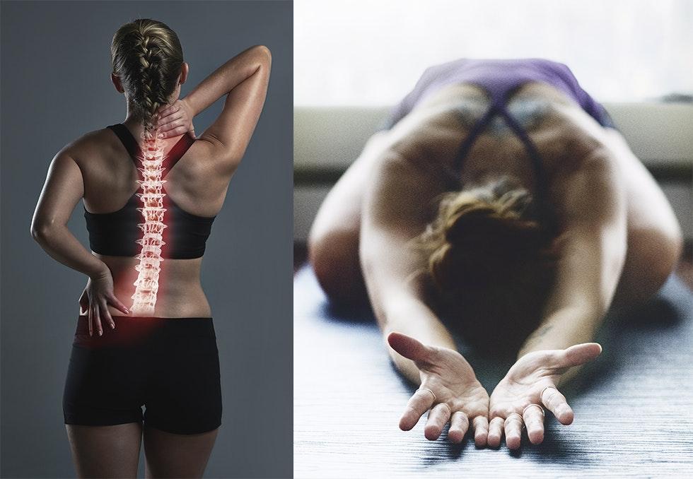 sterke smerter nederst i ryggen